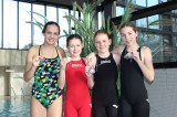 4x 50m Freistilstaffel von links: Sarah Pflüger, Nicole Carmosin, Julia Drung und Mona Maurer, belegte Platz 2.